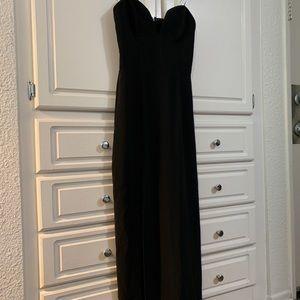Amanda Uprichard Black Strapless Gown. WORN ONCE!